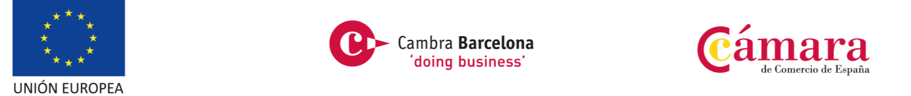 UE Doing Business Logos EU, Cambra Barcelona y Cámara