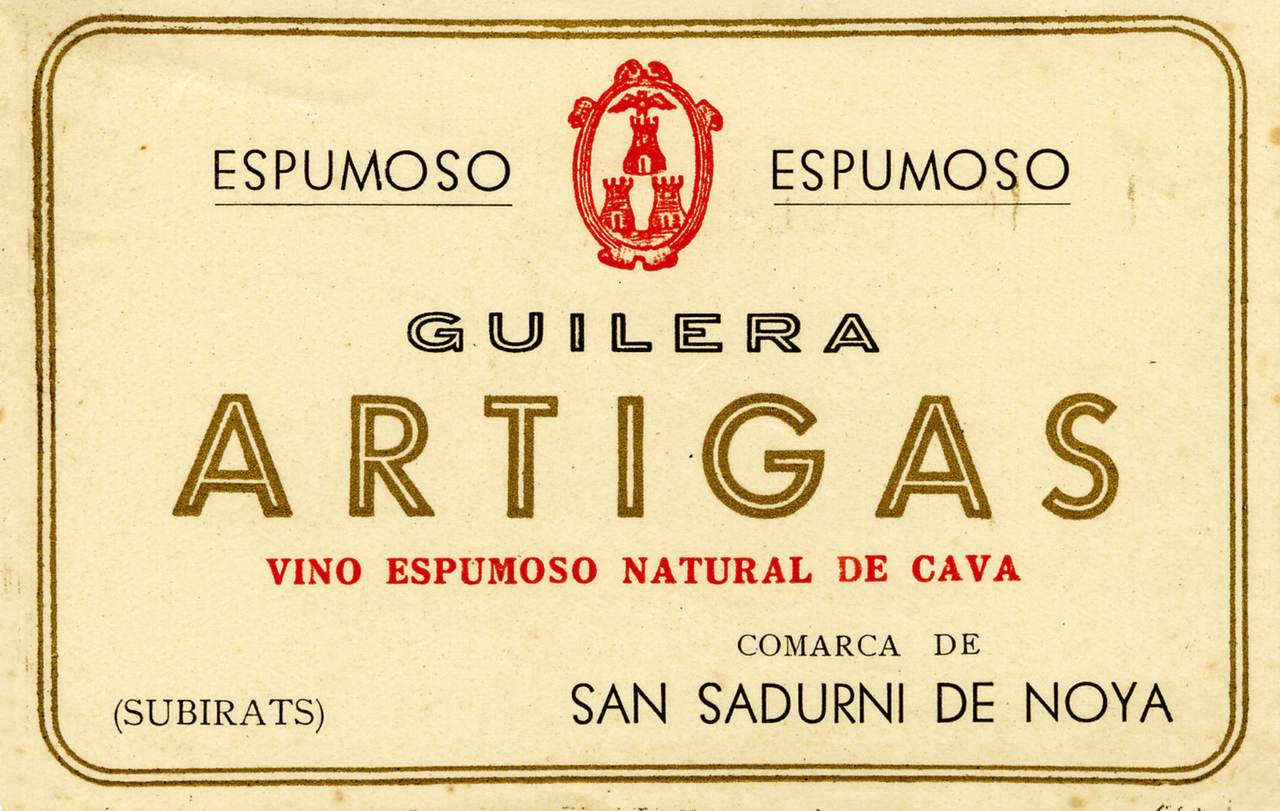 Original Guilera Artigas label