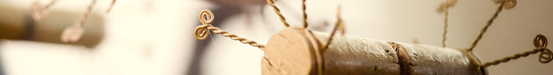 Details of the cork in the manufacturing process.